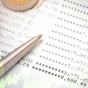 feuille d'un résultat comptable