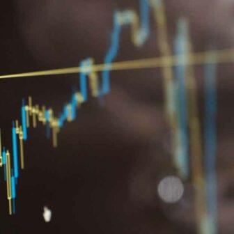 graphique du marché boursier