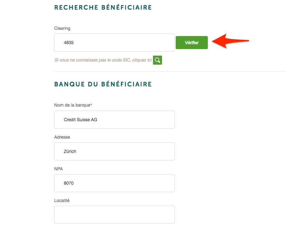 transfert bancaire simple CA next bank explications